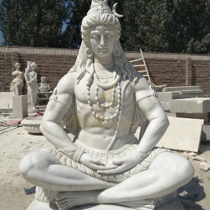 Brand New Marble Carved Lord Shiva Statue