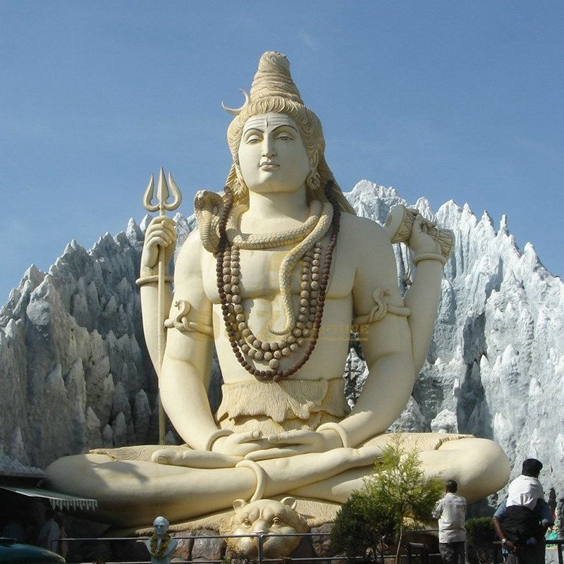 Life Size White Marble Stone Lord Shiva Statue