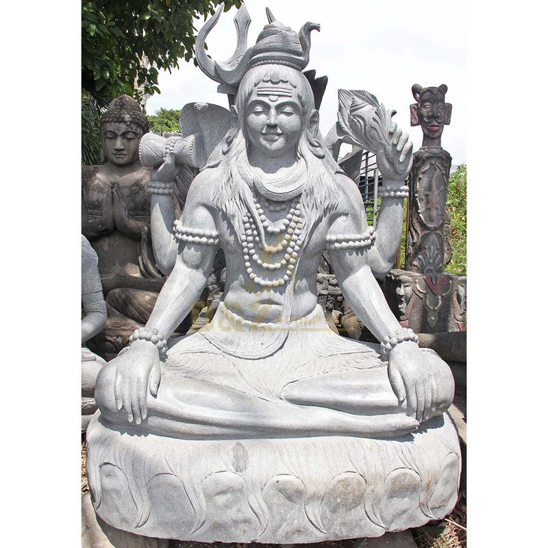 Lord Shiva Statue India Religious God Sculpture