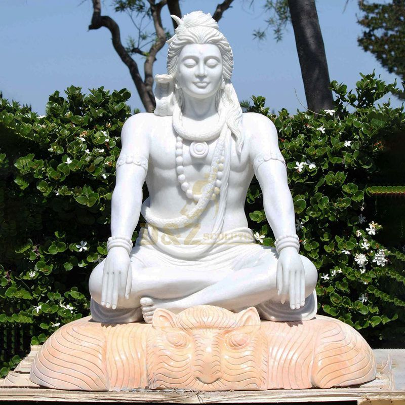 Antique Stone Carving Marble Statue Of Shiva
