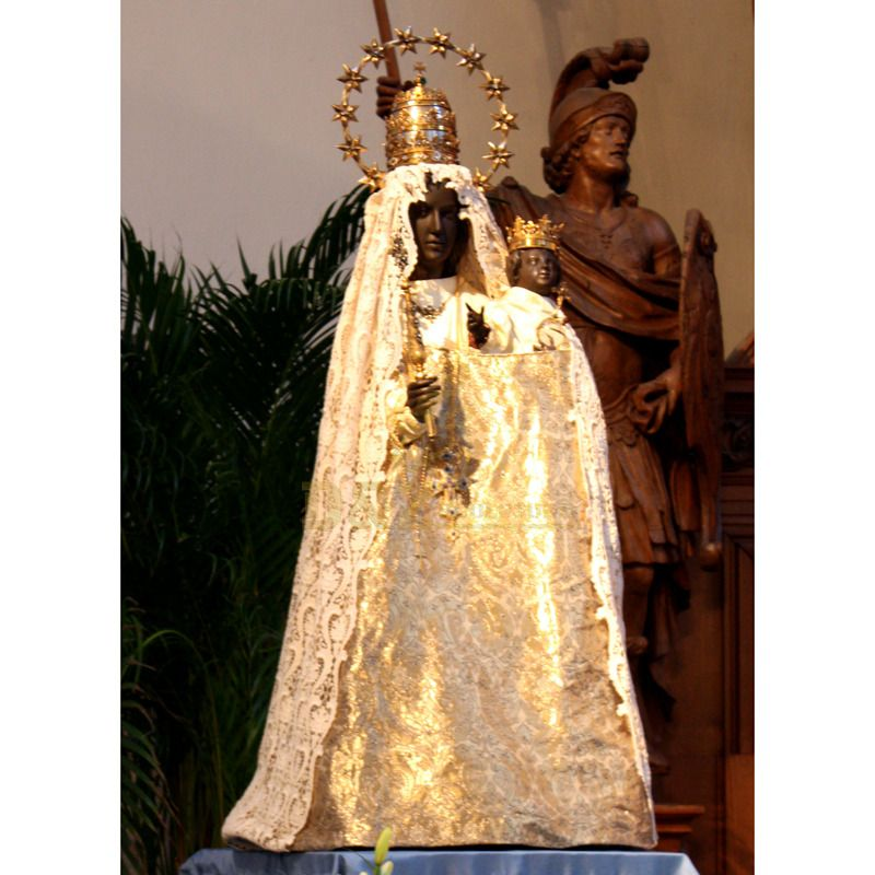 Fiberglass Religious Sculpture Black Madonna Statue