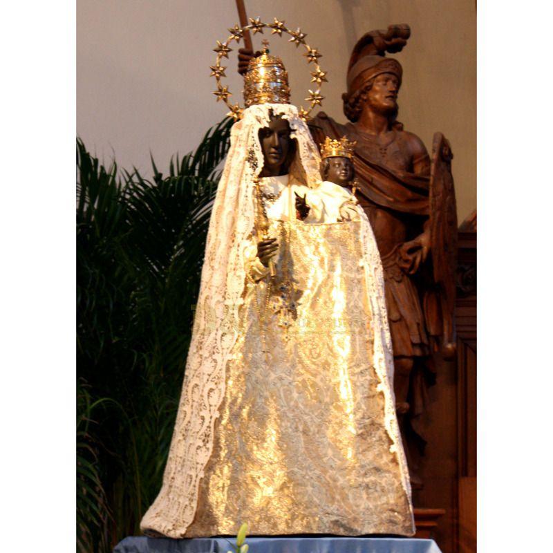 Life Size Handmade Black Madonna Child Statue