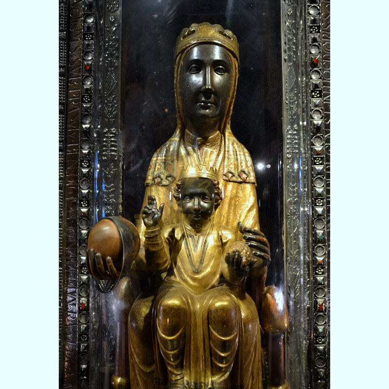 Premium Quality Black Madonna Child Statue Fiberglass Religion Sculpture