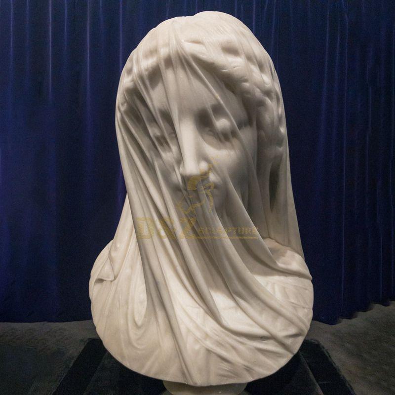 Famous Artwork Indoor Decoration Vield Virgin Marble Bust Statue