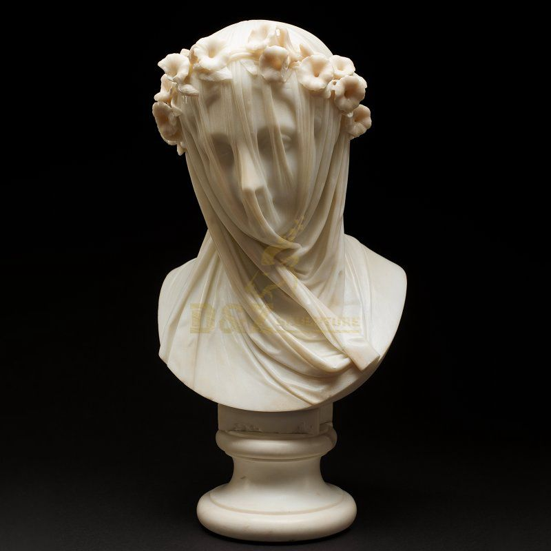 Famous Artwork Indoor Decoration Virgin Mary Marble Bust Statue