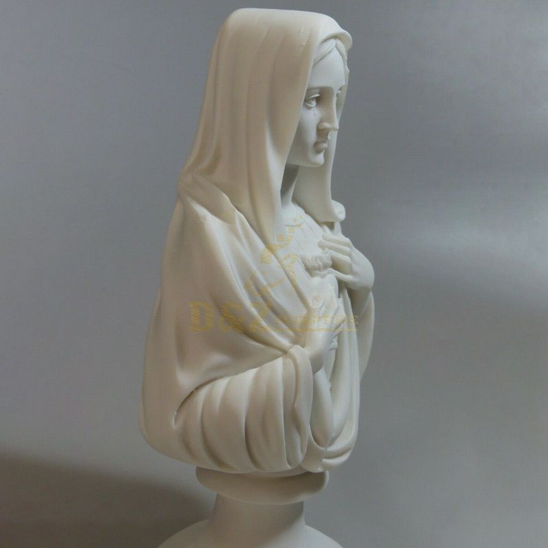 Hand Carved Decorative Virgin Mary Marble Bust Statue