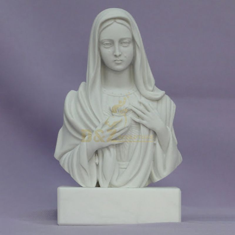 Wholesale Custom Marble Statues Virgin Mary Bust Statue