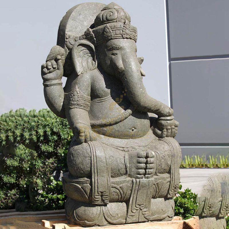 Factory Custom Black Stone Carved Ganesha