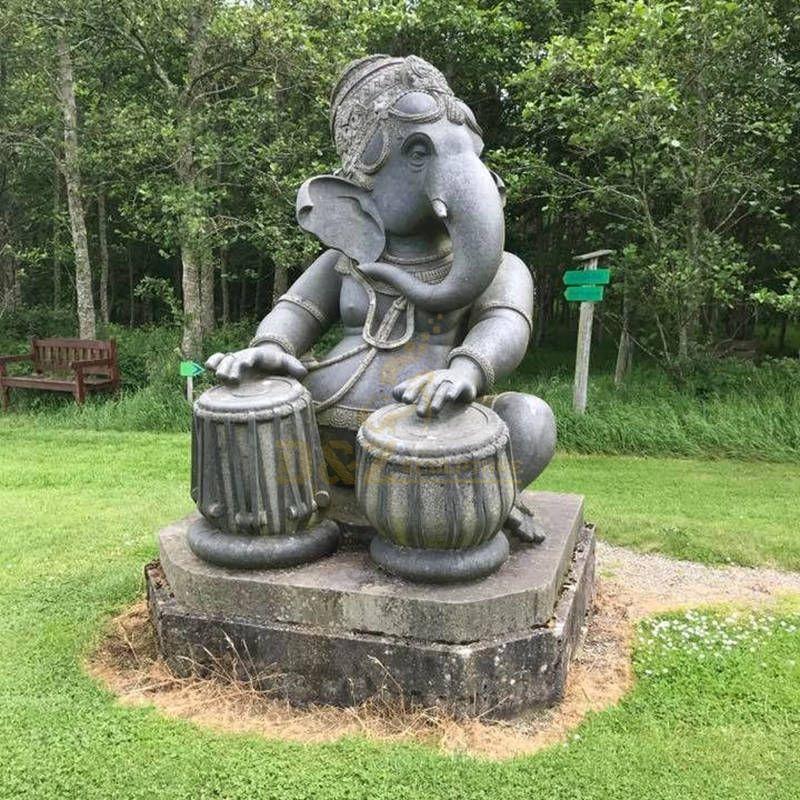 Antique Indian Marble God Ganesha Statue