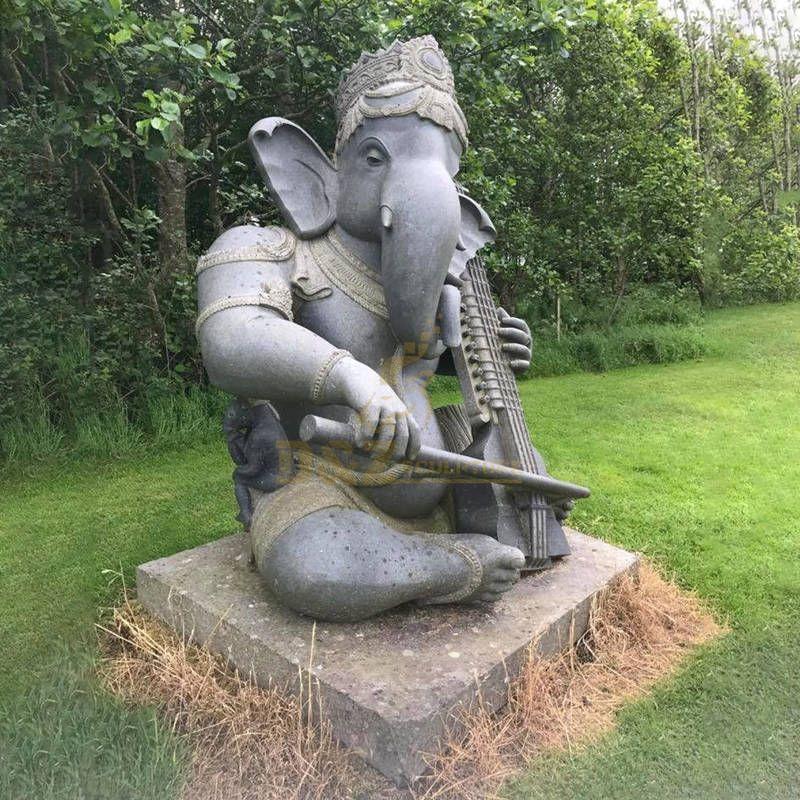Modern Style Granite Handcraft Marble Ganesh Statue