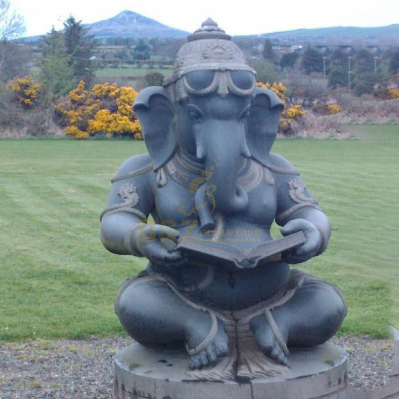India Buddha Elephant Lord Ganesha Sculpture