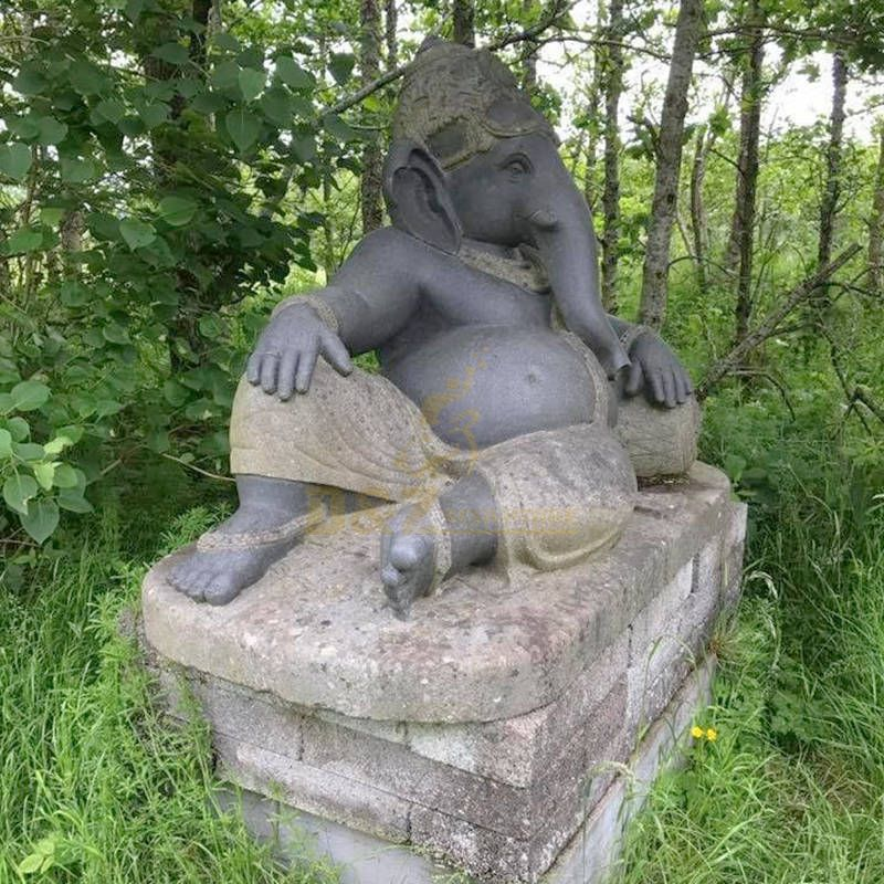 Handmade Indian Ganesha Statue Elephant Sculpture