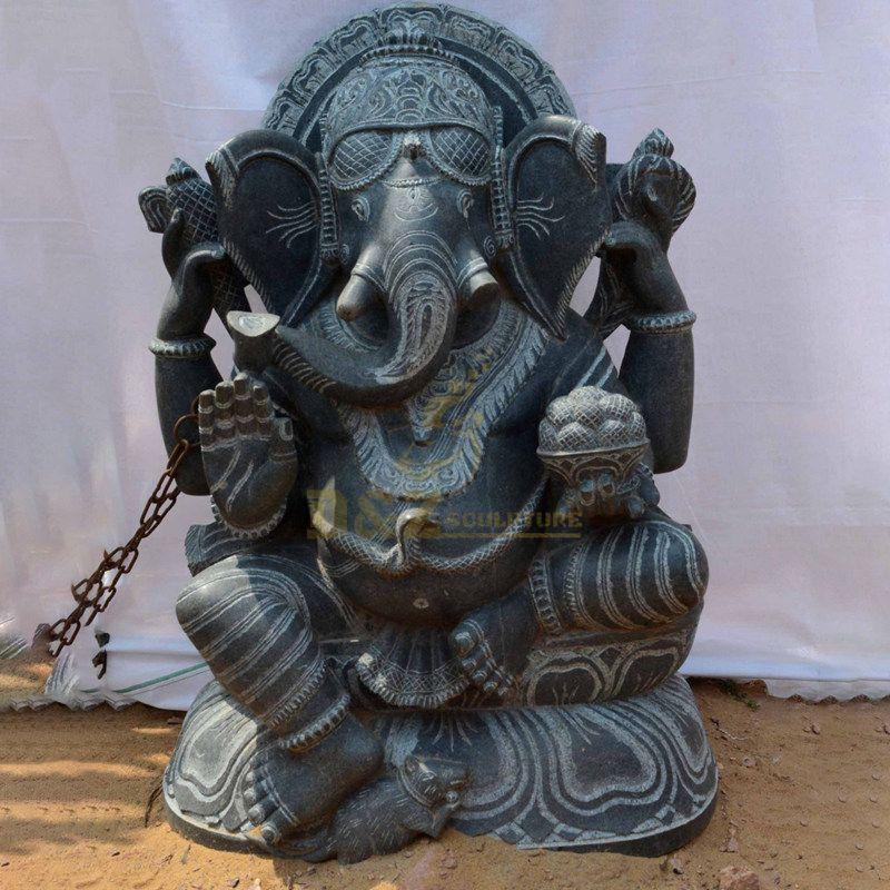 Family Elephant Decoration Hindu God Statues