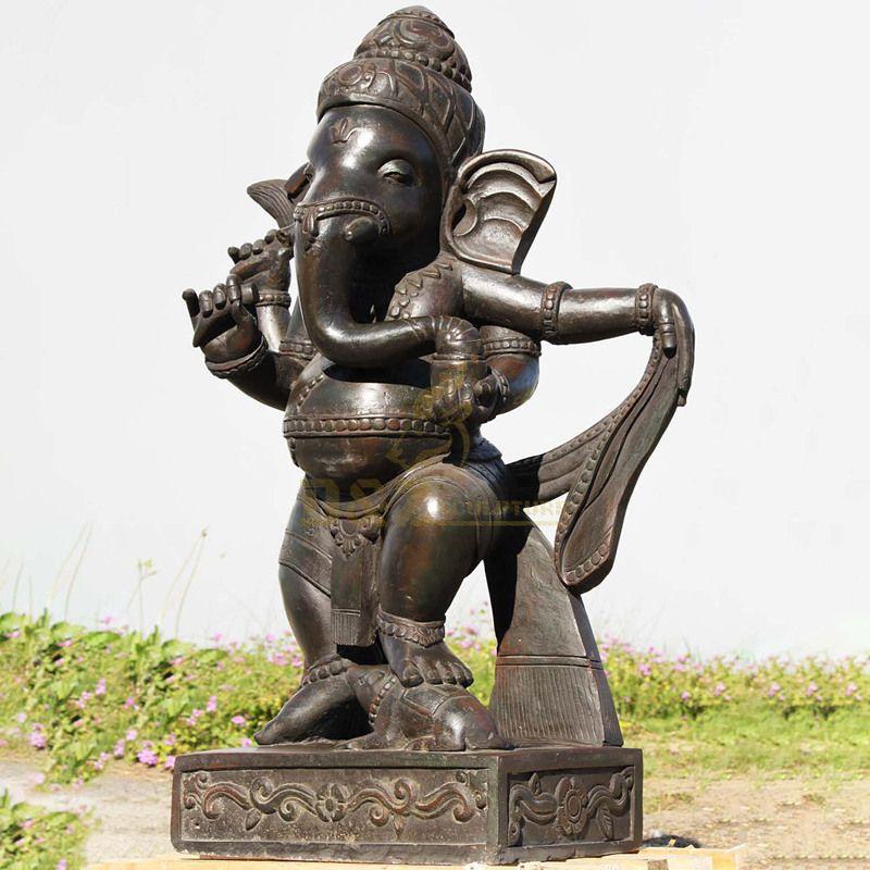 Bronze Ganesh Hindu Elephant God Of Success Statue Figurine