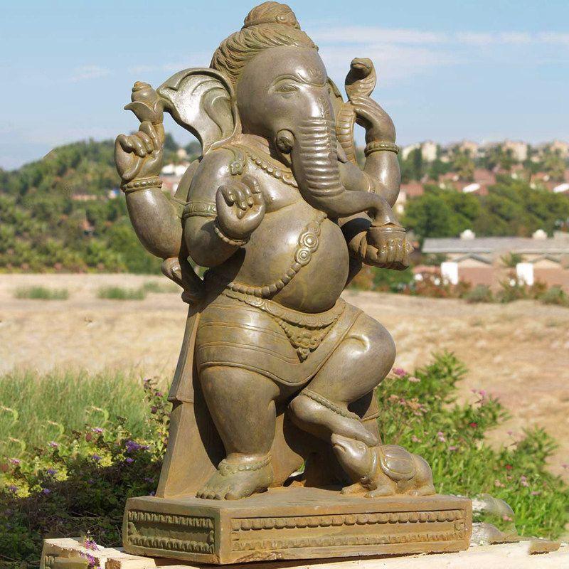 Indian Bronze Ganesh Statue Hindu Decorative Ganesha God