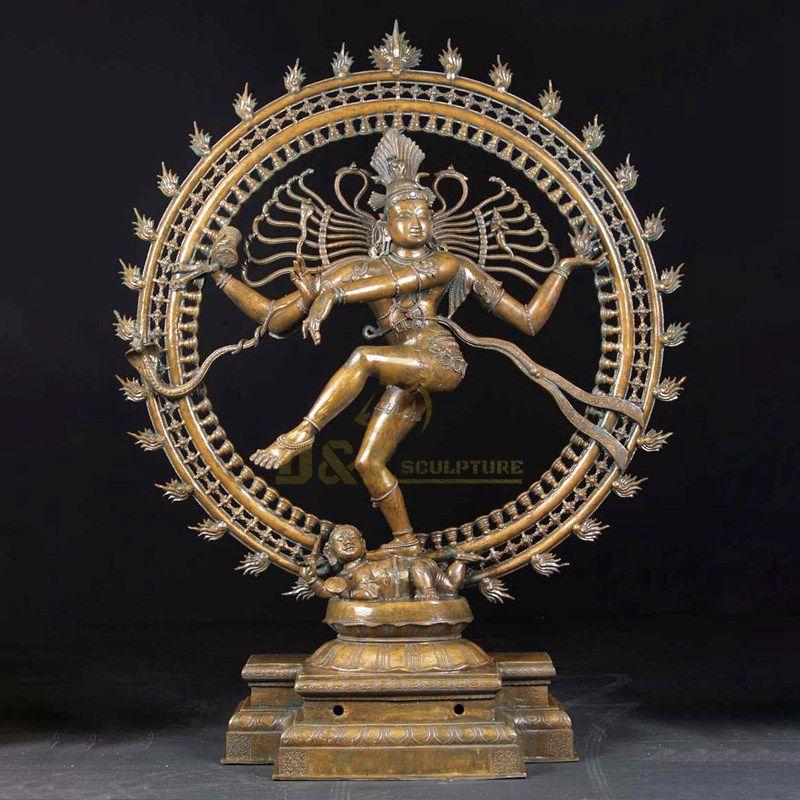 Antique Bronze Lord Shiva Sculpture Nataraja Statue