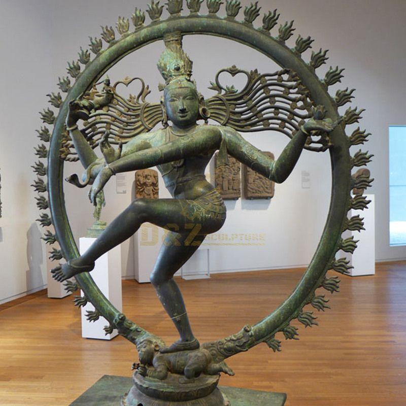 India Religious Buddha Statue Bronze Nataraja Sculpture