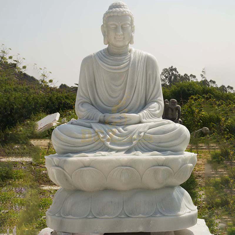 Large Size Religious Buddhism Theme Stone Marble Buddha Sculpture