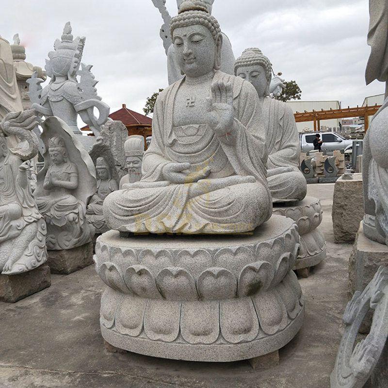 Modern Outdoor Decoration Life Size Natural Stone Buddha Sculpture