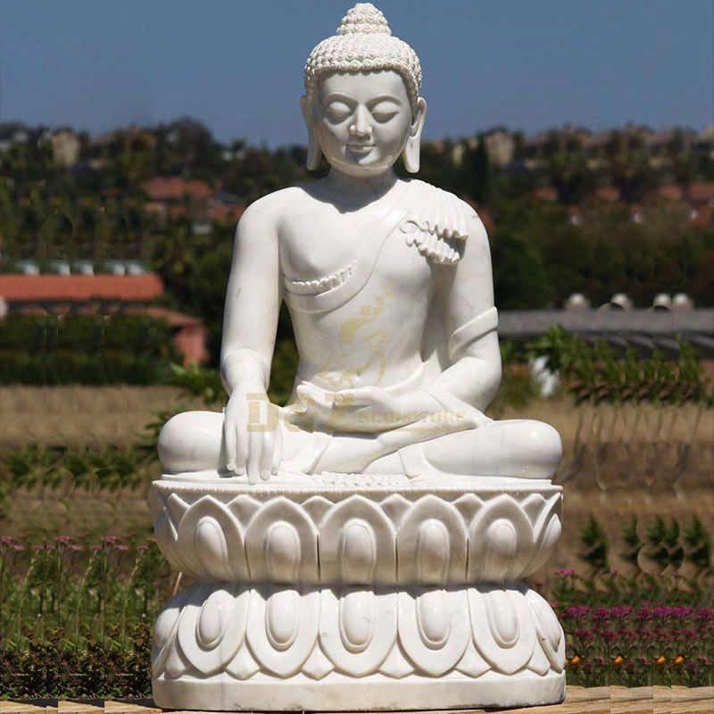 Factory Price High Quality Sichuan White Marble Buddha