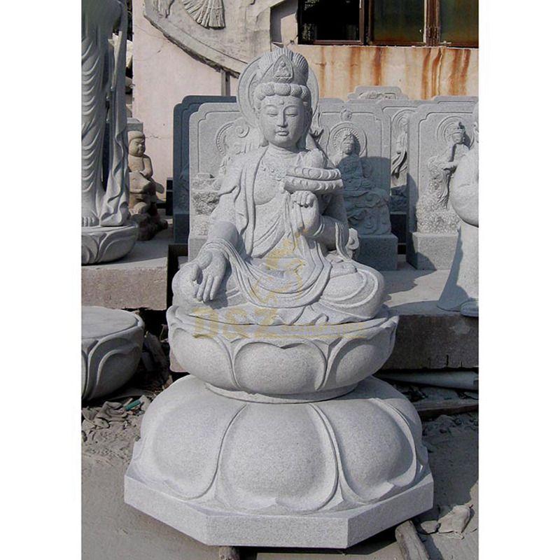Hand Craft God Marble Stone Guan Yin Buddha Statue