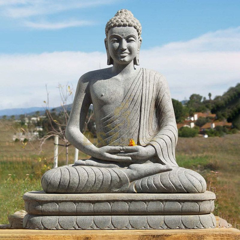 Outdoor Large Marble Stone Buddha Statues