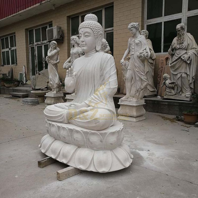 White Marble Large Garden Statues Of Buddhas