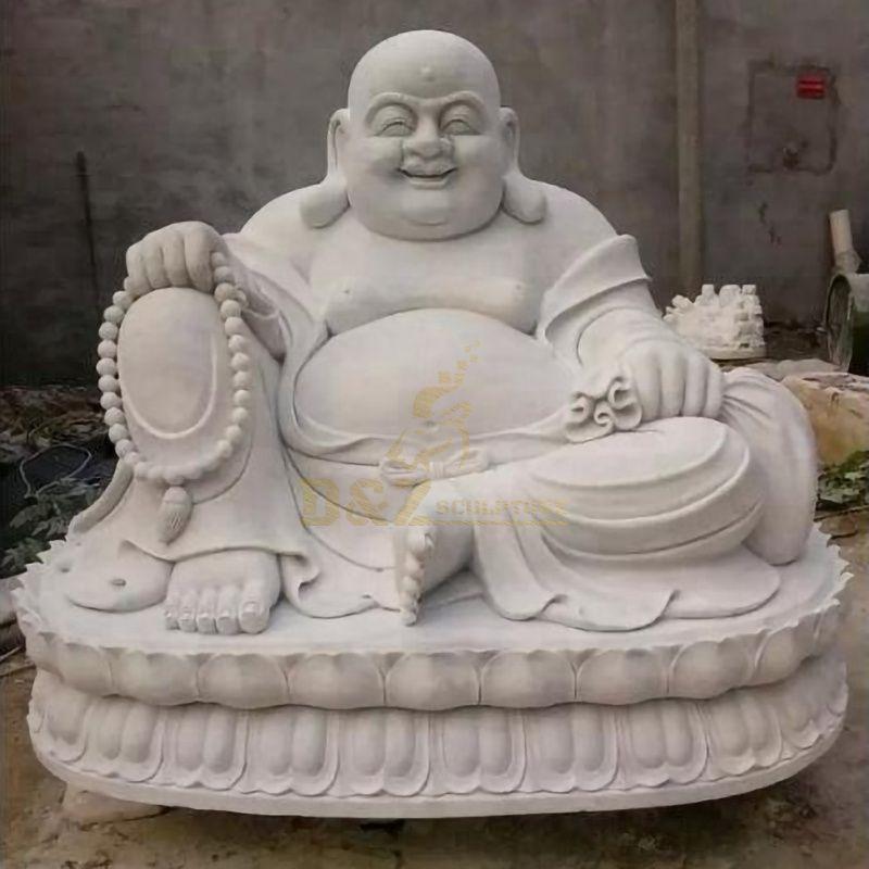 White Marble Handmade Laughing Happy Buddha Statue