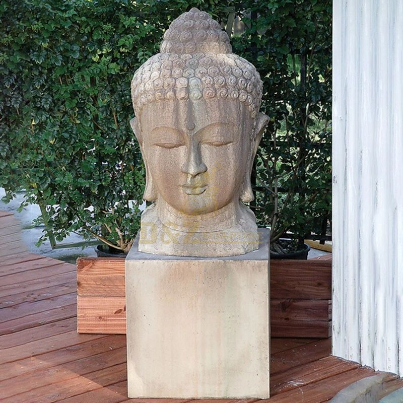 Hand Carved Large Marble Buddha Head Statue
