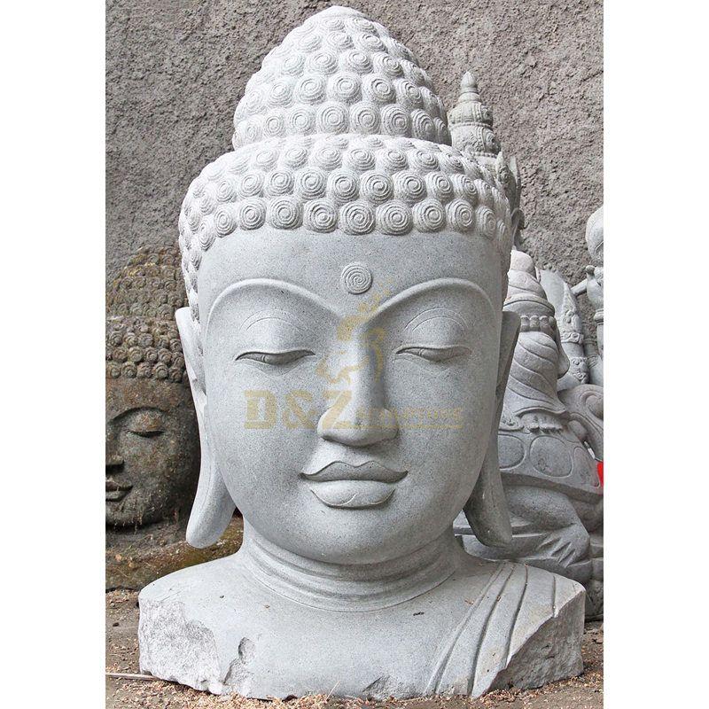 Natural Stone Marble Buddha Head Statue