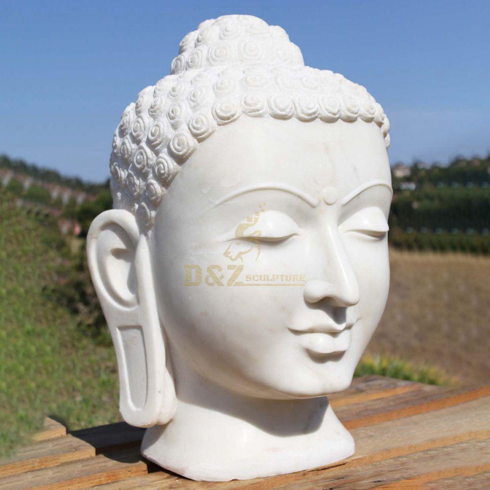 White Marble Stone Buddha Head Siva
