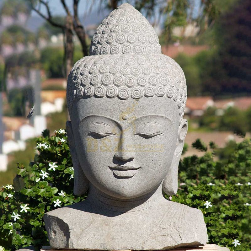 Religion Product Factory Marble Buddha Head Statue