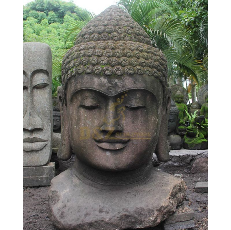 Factory Customize Hand Carved Marble Antique Buddha Head Statues
