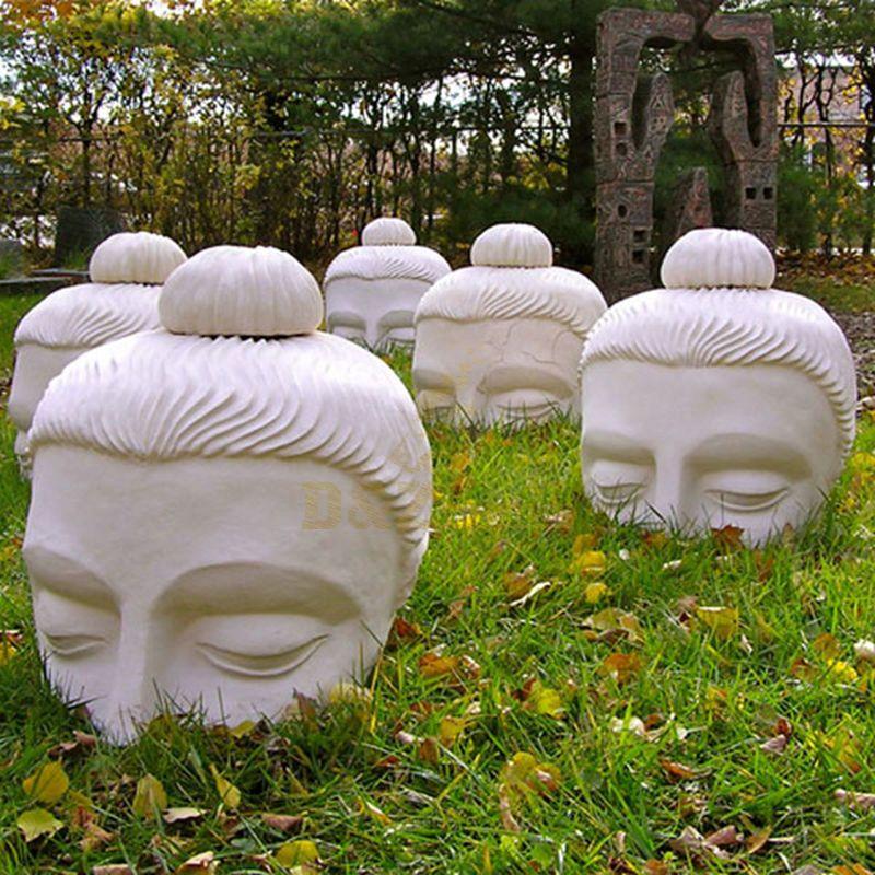 Best Sale Stone Garden Murti Buddha Head Ornament