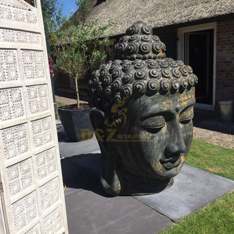 Marble Large Garden Buddha Head In Sculptures