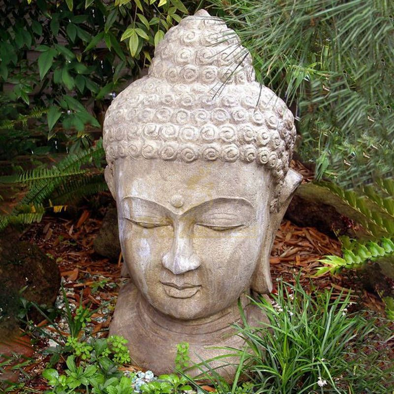 Buddha Natural Marble Buddha Head Sculpture For Sale