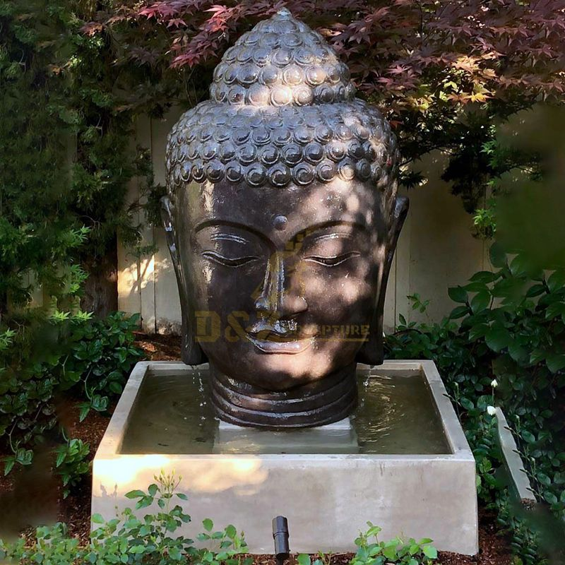 Large Buddha Head Statues Garden Outdoor Water Fountain