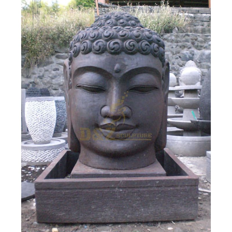 New Outdoor Marble Buddha Head Statue Water Fountain