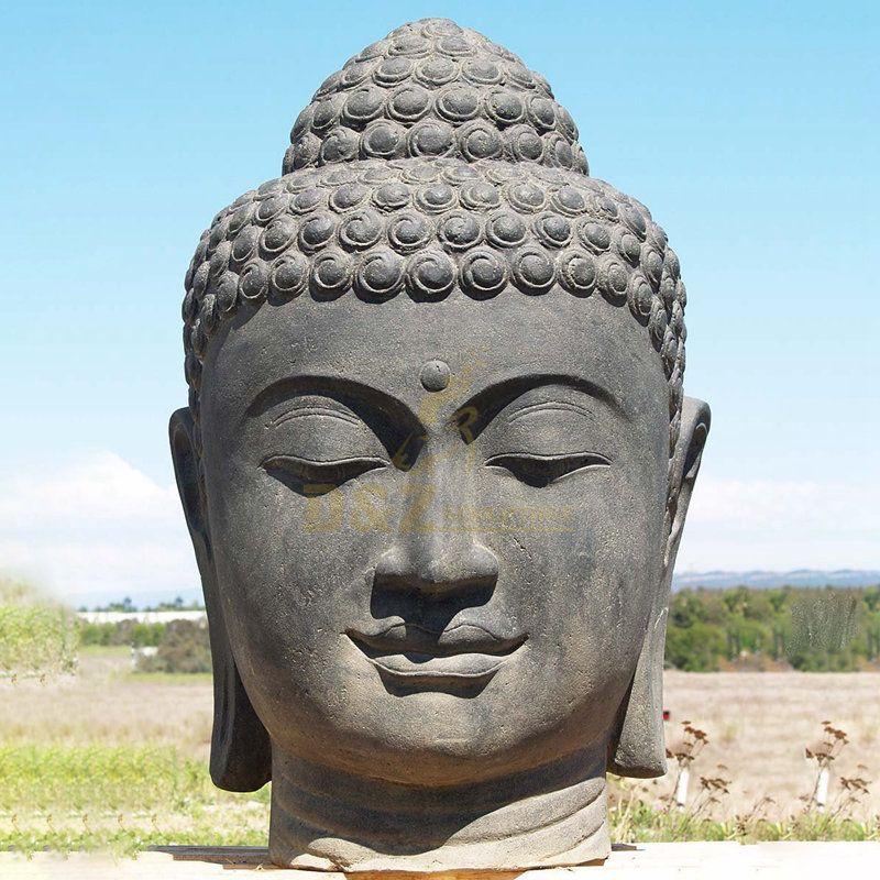 Bronze Buddha Head Statue Buddhism Sculpture Large Thailand Buddhist