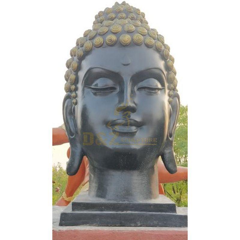 Big-Size Bronze Buddha Head Religious Bronze Statue