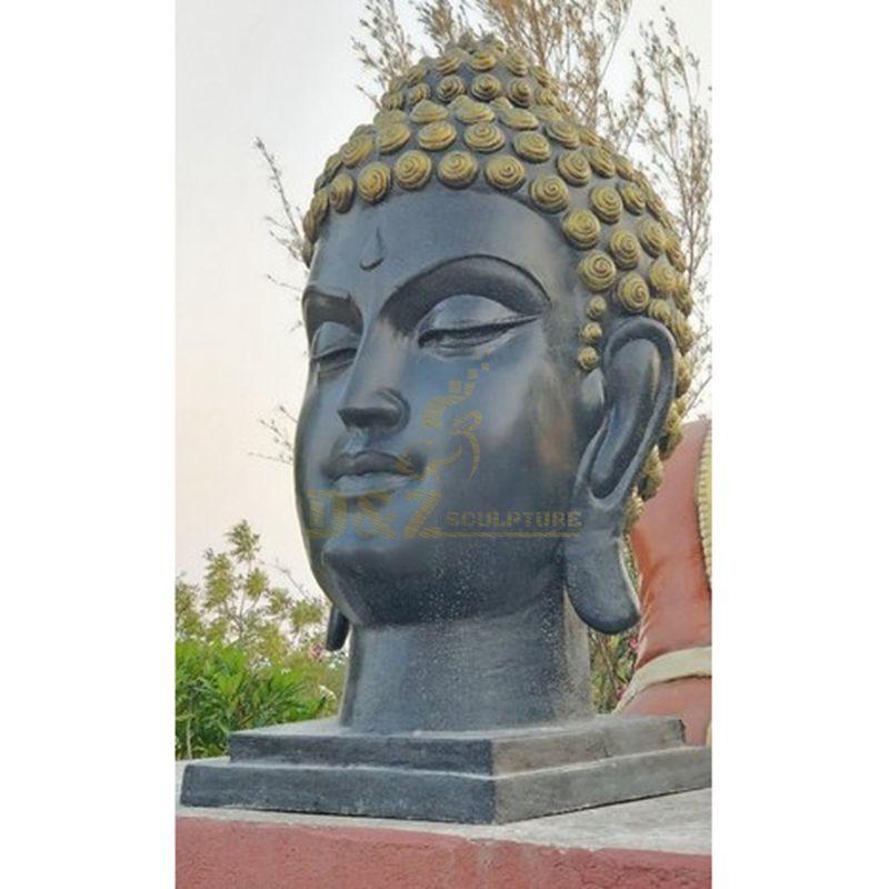 Home Furnishings Hand Made Bronze Indoor Buddha Head Statue