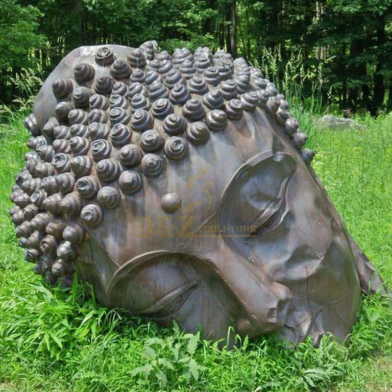 Buddhism Antique Copper Buddha Sculpture Buddha Head Statue