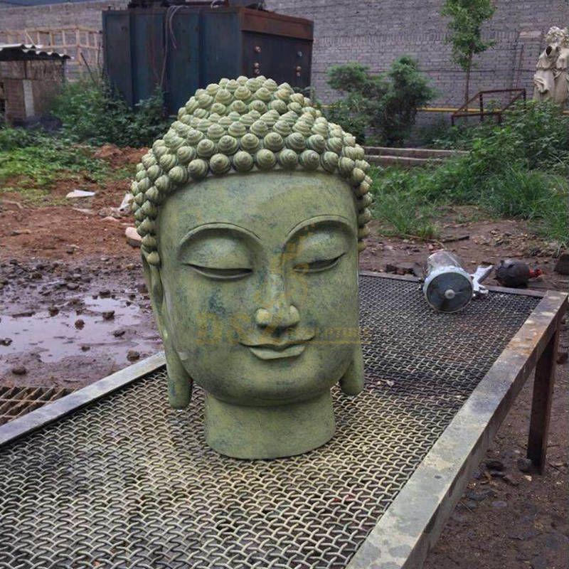 Home Decor Hot Sales Bronze Buddha Head Statue Sculpture