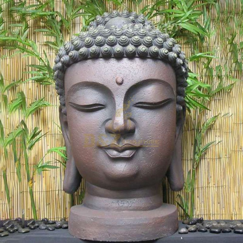 Customized Bronze Buddha Head Figure Home Garden Decoration