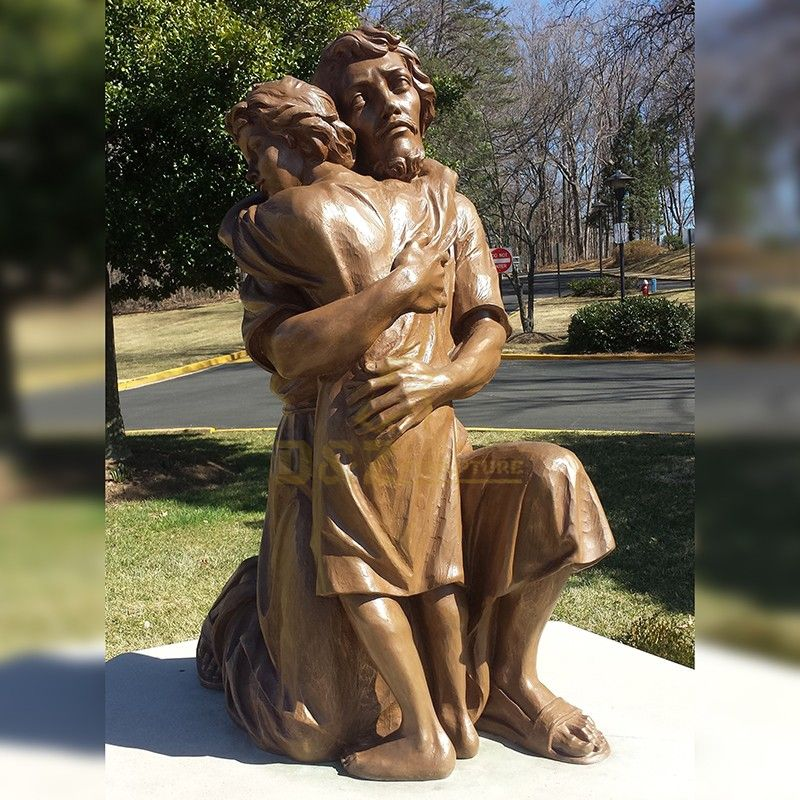 Famous Catholic Saint Joseph With Baby Jesus statues for Outdoor Decor