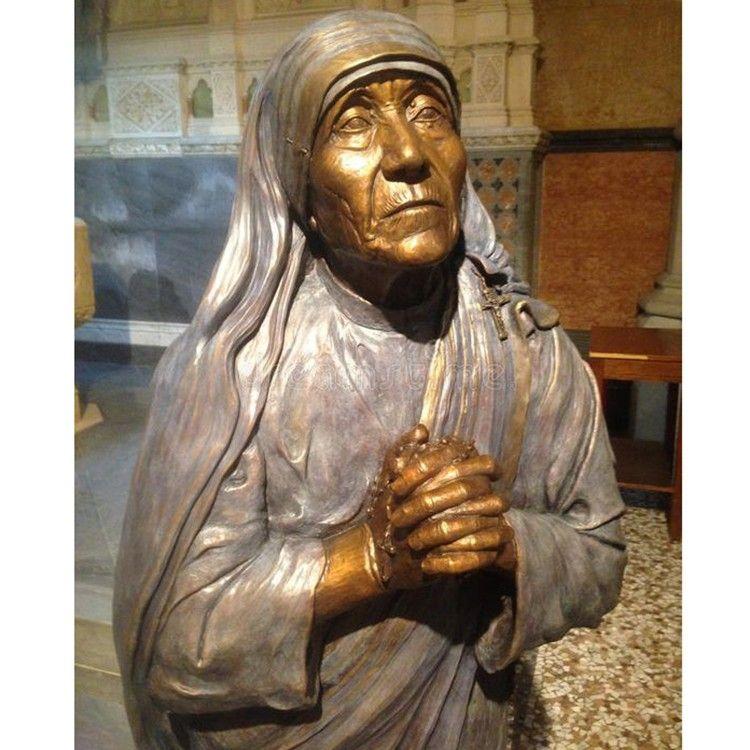 Famous Life Size Decoration Bronze Mother Teresa Statue