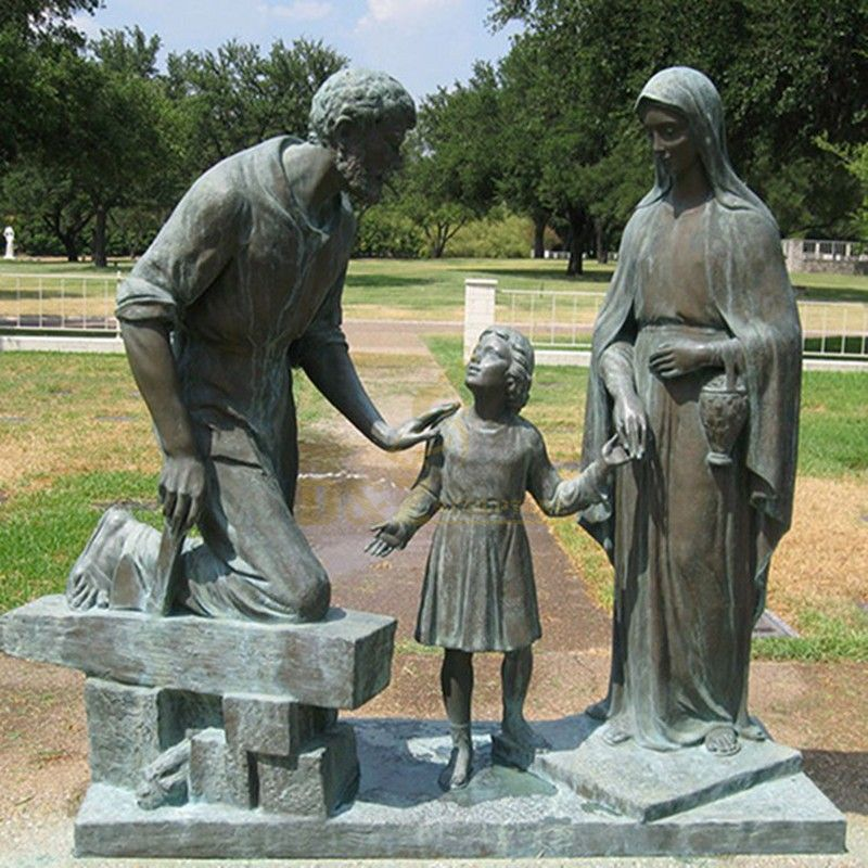 bronze statues of St. Joseph