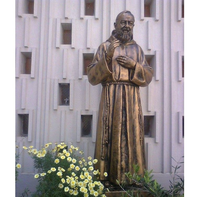 Hot Sale bronze Religious Decoration bronze Padre Pio Statue