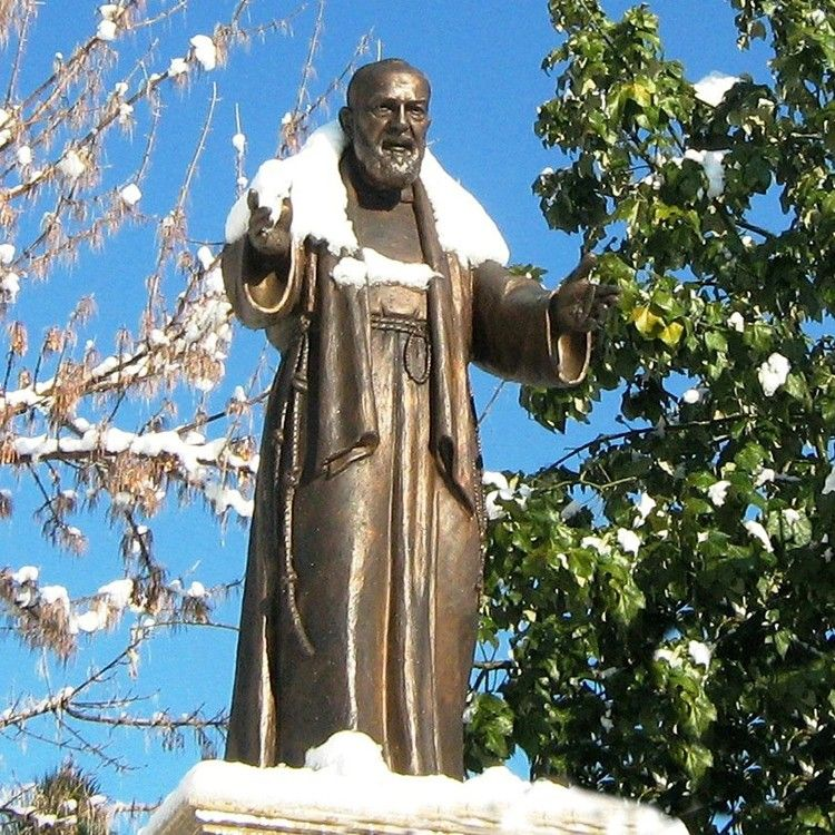 Hot sale bronze catholic religious ST Padre Pio statues for garden