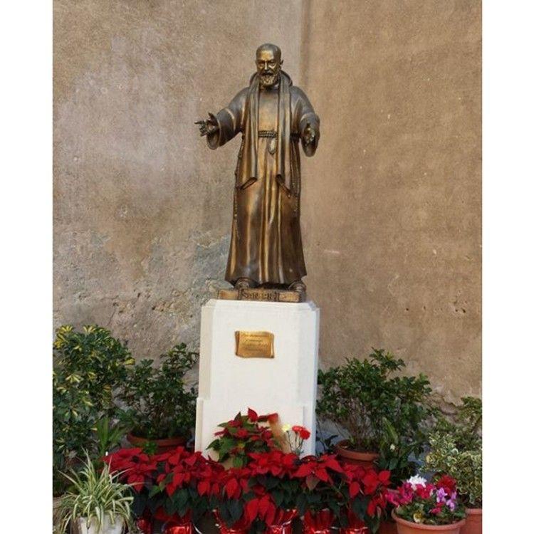 customized size outdoor garden decoration St Padre Pio statue